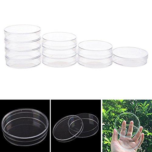 Platos de Petri asequibles de 10pcs Placas de Petri de poliestireno - 35mm / 55mm / 60mm / 70mm / 100mm / 150mm Borrar placas de Petri(35mm,35mm)