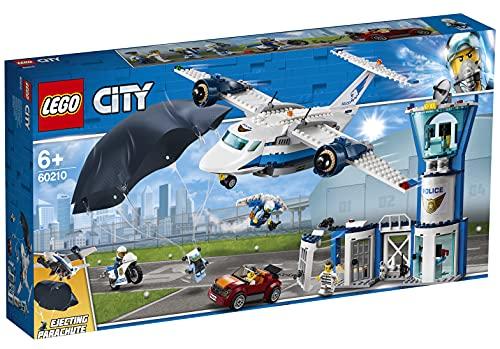 LEGO City Police - Policía Aérea: Base de Operaciones, Juguete de Avión y...