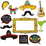 Amscan Fiesta Jumbo Photo Props Party Kit, 12 pcs