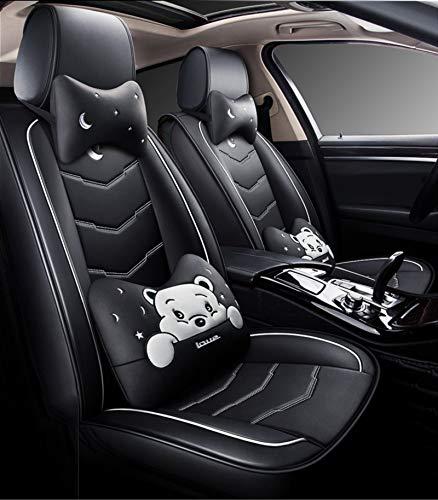Fly YUTING Cubiertas de Asiento de automóvil compatibles con Bolsas de Aire, con Ajuste de Cuero sintético para la mayoría de los sedán SUV,B