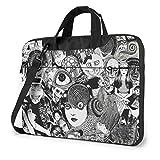 Junji Ito Horror Comics Anime Laptop Shoulder Messenger Bag Tablet Computer Storage Backpack Handbag 15.6 inch