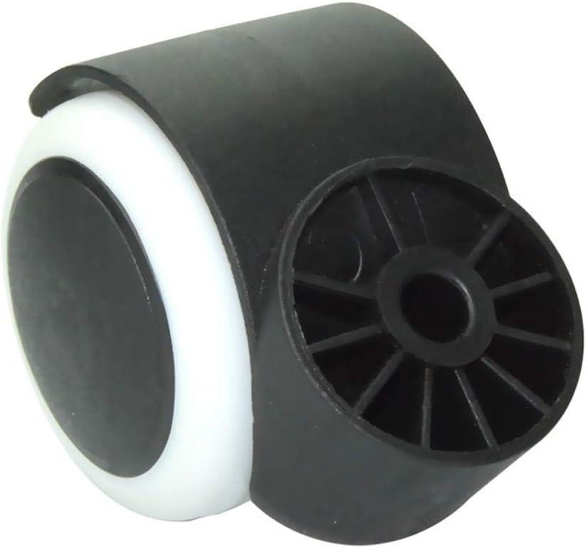 Circlip Office Chair Caster,Soft Nylon Replacement Castors Wheels,Protect Your CarpetHardwood,No Scratches,Noise,5 pcs