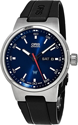 Oris Williams F1 giorno data automatico blu quadrante nero gomma mens...