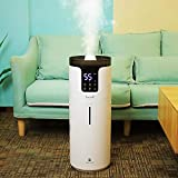 Lacidoll 4.2 Gal Tower Humidifiers for Large Room 1000 sq. ft, 16L Top Fill Cool Mist Ultrasonic Humidifier Quiet 1500mL/h Output with 360° Mist Tube for Home Office Workshop Greenhouse, White