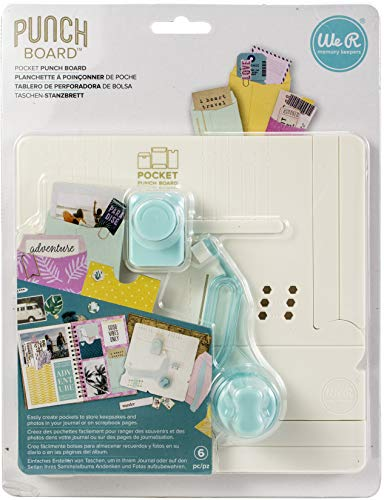 We R Memory Keepers 660484 Pocket Punch Board, Multicolore