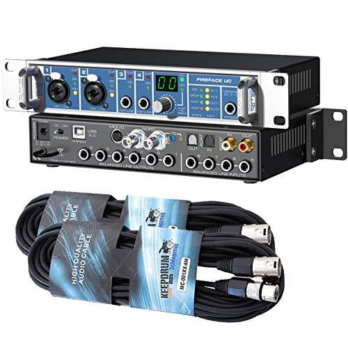 RME Fireface UC - Interfaz de audio USB (36 canales, 2 cables XLR, 6 m)
