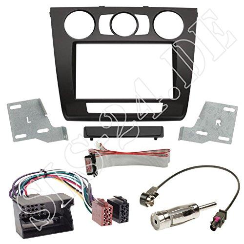 Autoradio 2-DIN Blende + Radio Adapter Quadlock für BMW 1er (E87 Facelift) 03/2007-06/2011 1er (E81) 05/2007-09/2011 1er Coupe (E82) 11/2007-10/2013 1er Cabrio (E88) 04/2008-10/2013 mit Man.Klima