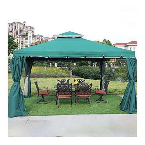 HLZY Gazebo Permanente para el césped del Patio, Gazebo de jardín 12x12 FT, Pabellón de Patio, Villa Gazebo Gazebo Party Outdoor Party Pergola, jardín, Patio