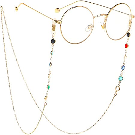 Silber Cathercing Brillenketten Halskette Edelstahl Brillenhalter Lesebrille Halter Band Sonnenbrillenhalter Kordeln Brillenhalter f/ür Frauen M/ädchen /Ältere Rutschfest