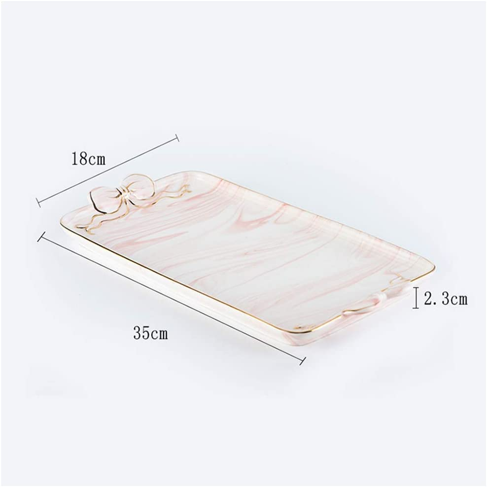 Nordic Ceramic SALENEW very popular Square Tray Marble Fruit Long-awaited Tea Dessert Afternoon Pl
