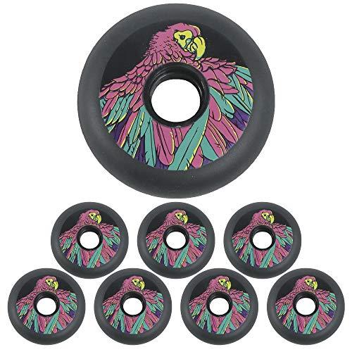83A Inline Skates Rollen für Kinder Jugendliche 72mm 76mm 80mm Black Eagle Ersatz Rollen 8 Packungen,76mm