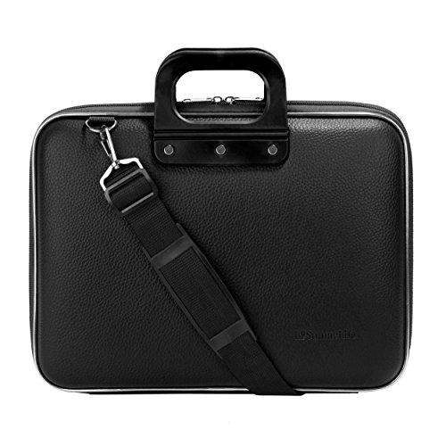 SumacLife Cady Jet Black Messenger Bag Carrying Case for Lenovo Flex / IdeaPad / ThinkPad / Yoga 13' to 14inch