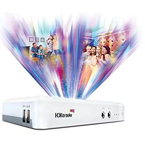 HDK Box 2.0 Smart Home Karaoke Machine One Mic Version Supports Recording and iPad/iPhone/Android Apps Control with 10 Free Songs