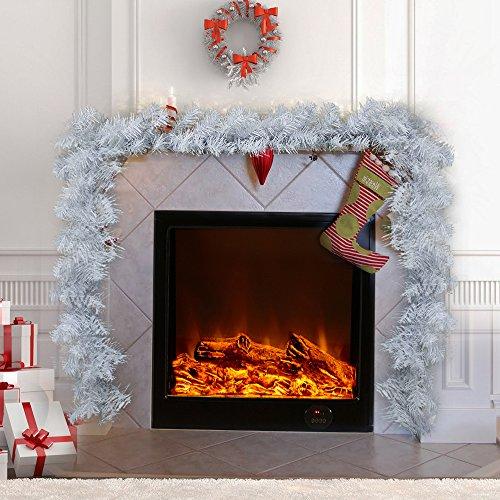 Enjoygoeu Ghirlanda Natalizia Bianco per Decorazioni Natale Ghirlanda di 270 cm Artificiali per Decorazioni Natalizie Festa a Casa o per la Festa di Nozze