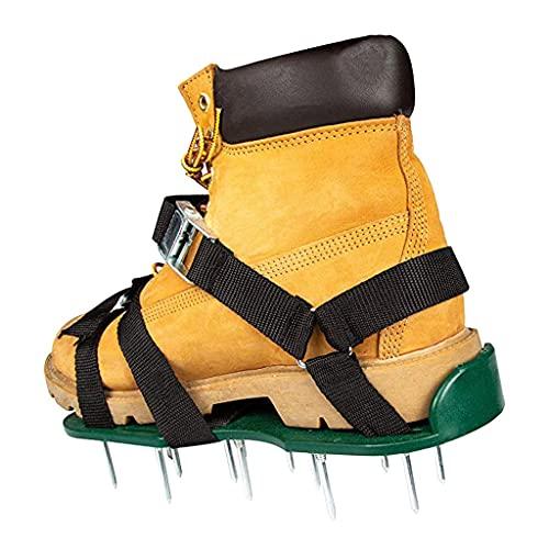 ZHBW Sandalias De Aireador De Césped, Zapatos De Uñas De Jardín Cultivador De Césped De Jardín Escarificación Zapatos De Uñas Herramienta