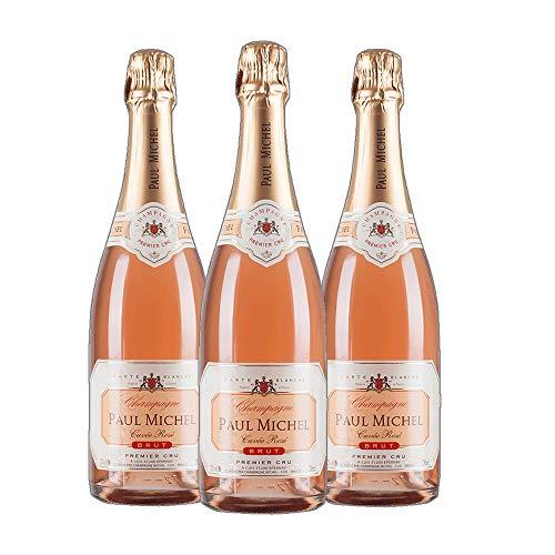 Champagne - 1er Grand Cru brut Rosé - Paul Michel Winzer Champagner trocken (3x 0.75 l)