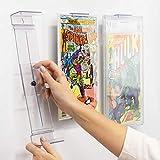 Comic Mount Soporte para Estantería de Cómics y Montaje en Pared, Invisible y Ajustable, Paquete de 5