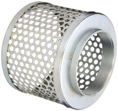 PT Coupling Carbon Steel Round Hole Pump Suction Strainer, 4'