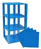 Strictly Briks Pack de 4 Bases con Ladrillos separadores 2 x 2 - Construcción en Forma de Torre -...