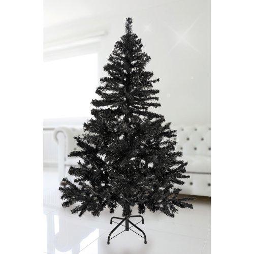 FTS EXCLUSIV Weihnachtsbaum 150 cm in Schwarz inklusive Metallständer