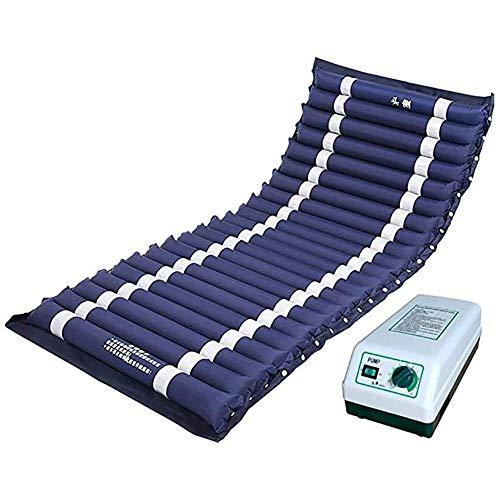 Slud Colchón antiescaras de Aire alternante, para escaras Grado I y II, de Aire alternante, Nylon y PVC médico ignífugo, Color Azul