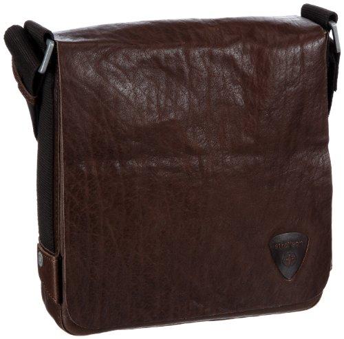 Strellson Morrison 01/22/02140 - Bolso de Mano de Cuero para Hombre, Color Beige, Talla 23x24x5 cm