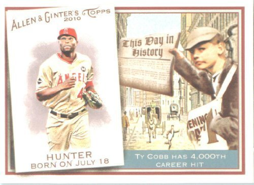 2010 Topps Allen and Ginter This Day In History Baseball Card # TDH39 Torii Hunter - Angels - MLB Trading Card
