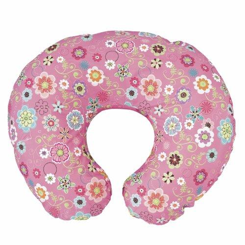 Chicco - Almohada de lactancia Boppy con funda removible rosa Wild Flowers