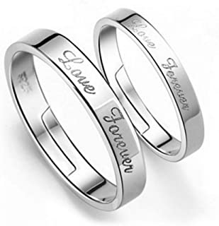 ZHOUYF Ring Engagement Rings Love Forever Design Anillos Adjustable Women Wedding Rings 1 Pair Fashion Silver Colour Engagement Rings For Bride Quality