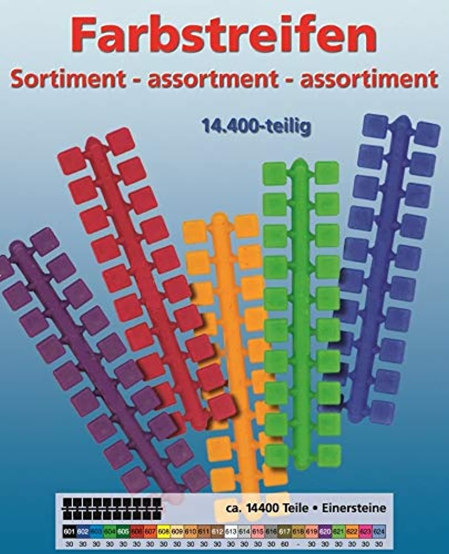 Stickit Mini Stecksystem Farbstreifensortiment 1er Steine v. 601-624, ca. 14.400 Teile Nr. 40105 B01IY1JLVK   Internationale Wahl