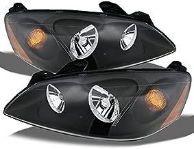 For Pontiac G6 Amber Black Bezel OE Replacement Headlights Driver/Passenger Head Lamps Pair New