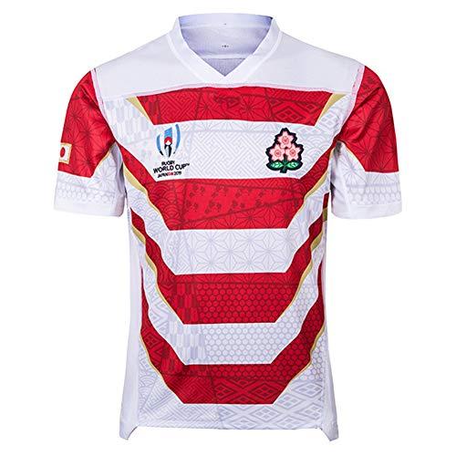 HQSG Camisetas De Rugby / 2019 World Cup Japan Camisetas De Local Y Visitante Ropa De Juego Camisetas De Rugby Gimnasio Cómodo Chaleco Ropa Deportiva Camiseta (S-5XL)-White-XXL