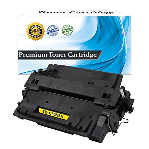 Top Dog Compatible Toner Cartridge Replacement HP CE255A (HP 55A) for use with HP LaserJet Enterprise P3010 HP LaserJet Enterprise P3015 HP LaserJet P3016 HP LaserJet Enterprise M525 HP LaserJet Pro M521 Series Printers