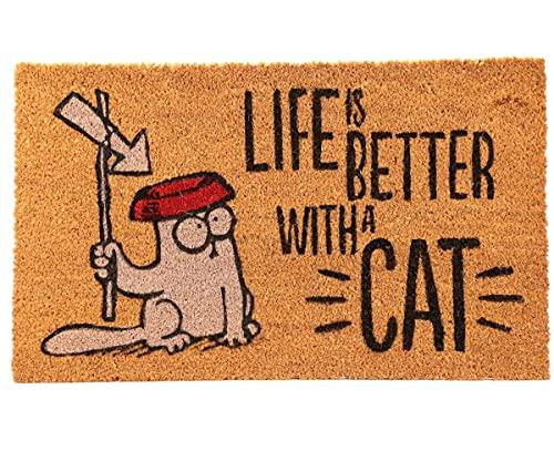 Simon's Cat Fußmatte LIFE IS BETTER WITH A CAT