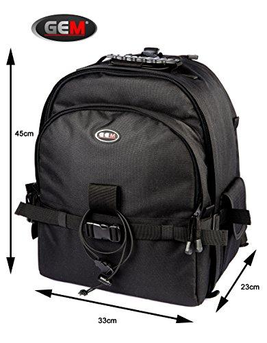 Gem Professional Kameratasche Rucksack Tasche mit Stativ-Halter + Regenschutz für Panasonic Lumix dc-g9–lebenslange Garantie