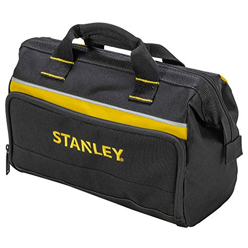 Stanley Werkzeugtasche (12 Zoll, 30 x 25 x 13 cm, robuste, kompakte Tasche für Werkzeuge, Trage aus 600 x 600 Denier Nylon, strapazierfähige Konstruktion) 1-93-330, Sortiert