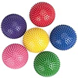 POFET 6pcs Half Round Massage Ball, Massage Yoga Balls for Children and Adults Half Round Balance Pod Foot Fitness Domed Stability Pods