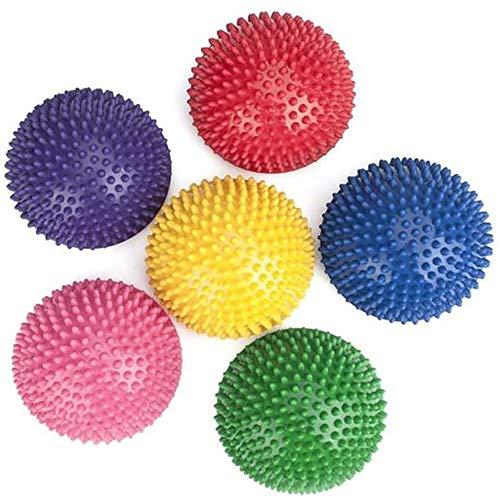 POFET 6 bolas de masaje semicirculares, bolas de masaje para niños y adultos, media vuelta, balda de equilibrio para pies y fitness con forma de cúpula de estabilidad