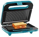 Holstein Housewares HH-09125003E Maker 2-Slice Electric Sandwich Grill Press, Teal