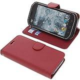 foto-kontor Tasche für CAT S40 Book Style rot Schutz Hülle Buch