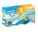 PLAYMOBIL Family Fun 70438 - Barca a vela, Galleggiante, Dai 4 anni