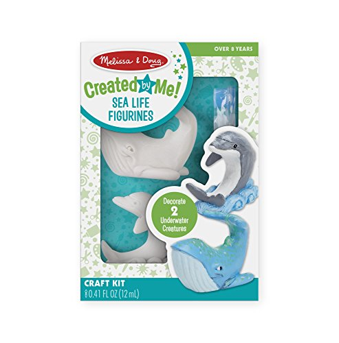 Melissa & Doug Decorate-Your-Own Sea Life Figurines Craft Kit (Paint a Whale and Dolphin, Great Gift for Girls and Boys - Best for 8, 9, 10 Year , 11, 12 Olds and Up)