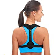 Andego Back Posture Corrector for Women & Men - Effective and Comfortable Posture Brace for Slouching & Hunching - Discreet Design - Clavicle Support For Medical Problems & Injury Rehab