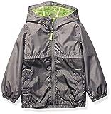 Carter's Boys' Little Mesh Lined Windbreaker Jacket, Gray/Gray Texture, 7