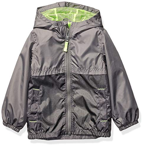 Carter's Boys' Toddler Mesh Lined Windbreaker Jacket, Gray/Gray Texture, 2T
