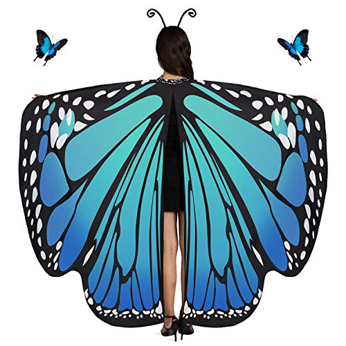Butterfly Wings for Women Butterfly Shawl Fairy Ladies Cape Nymph Pixie Halloween Costume Accessory