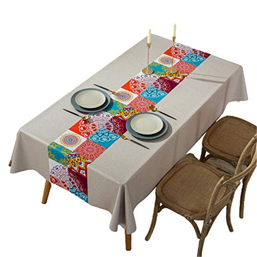 Hotel Tablecloth Print Pvc Tablecloth Oil Proof, Waterproof And Heat Proof Tablecloth Cover