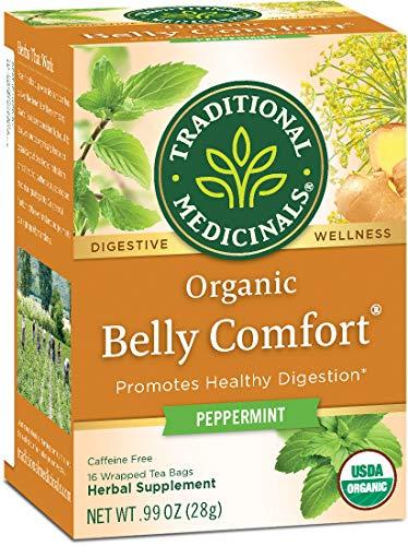 Traditional Medicinals Organic Belly Comfort Peppermint Tea, 16 Tea Bags (Pack of 6)