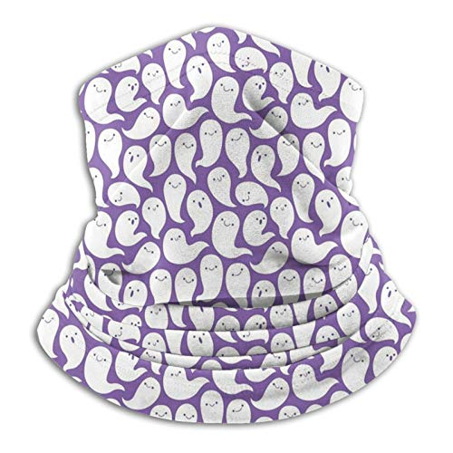 Friendly Ghosts Purple Neck Warmer Scarf Snoods Ski Mask Bandana for Cycling Motorcycle Running Sports Hiking Skiing Unisex Thermal Beanie Hat Hood Polar Fleece