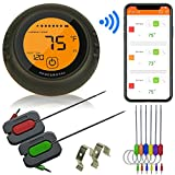 AKSESROYAL Wireless Meat Thermometer for Grilling, 6 Probes, Digital Cooking BBQ Bluetooth Thermometer for Smoker, Oven Meat Thermometer, Magnet, Timer, Alarm for Kitchen, Food, Perfect Gift